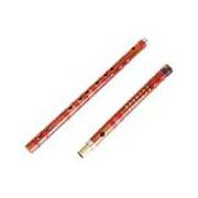 Bambusová flétna Dizi s membránou a pouzdrem lazená v F